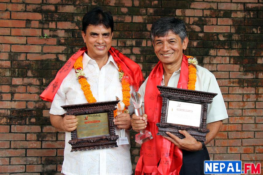 Hari Bansha Acharya and Madan Krishna Online Filmykhabar Awards